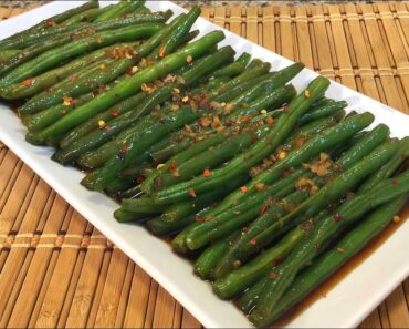 How To Make Vietnamese Sweet Spicy Green Beans-Healthy Asian Food