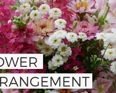 Summer Pink Larkspur Flower Arrangement