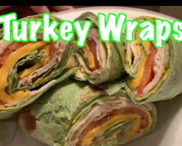 How to make Healthy Delicious Turkey wraps