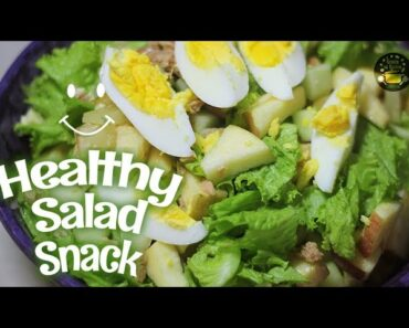 A Healthy SALAD Snack with TUNA