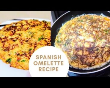 New simple and quick morning breakfast idea/healthy delicious Spanish omelette