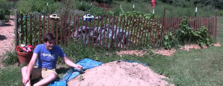 Applying Sand to The Garden
