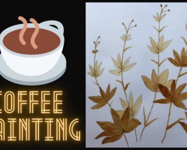 Flowers coffee painting step by step for beginners| Coffee Painting