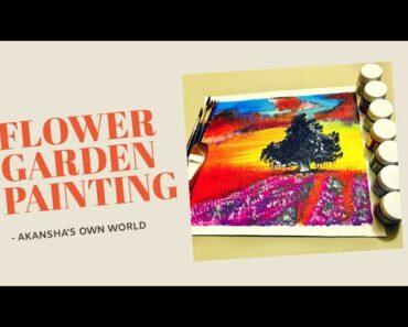 A easy Flower Garden Painting/ Acrylic Colours/ beginners Painting/ #09
