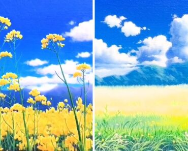 Flower Garden Painting Ideas|Acrylic Painting for Beginners Step by Step|Satisfying