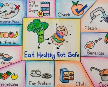 Eat Healthy Stay Wealthy Drawing/Poster on World Food Day/how to