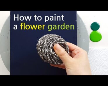 (445) How to paint a flower garden with a Steel