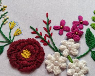 beautiful garden flower for beginners hand embroidery