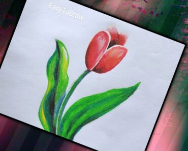 Tulip Drawing For Beginners | #EasyToDraw
