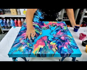 How to Paint an Abstract Flower Garden #SHORTS