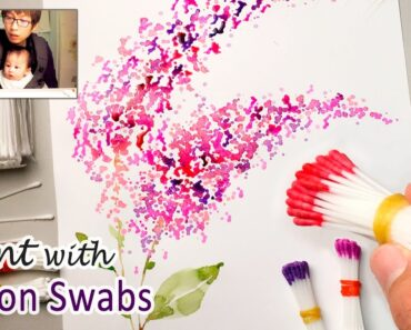Cotton Swabs Painting Technique for Beginners
