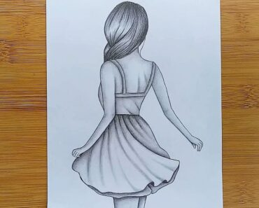How to draw easy Girl Drawing for beginners