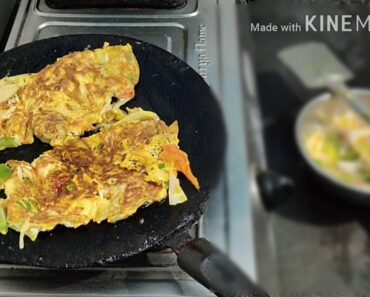 Vegetables healthy egg omelete, with Ninu's kitchen garden