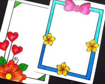 Paper border designs for projects easy || designs for beginners
