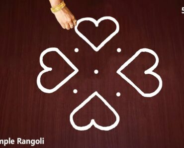 Very Very Easy Kolam Design with 5X3 dots