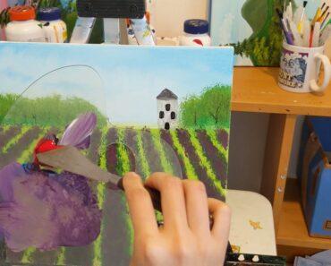 easy paint-Flower field